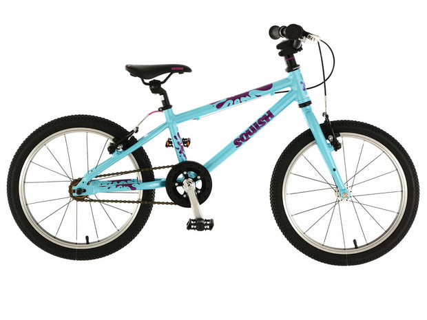 "Squish Lightweight Aqua 18"" Junior Hybrid Bike"