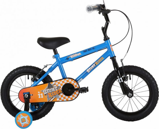 "Bumper Stunt Rider 14"" Fun Kids Bike Blue"