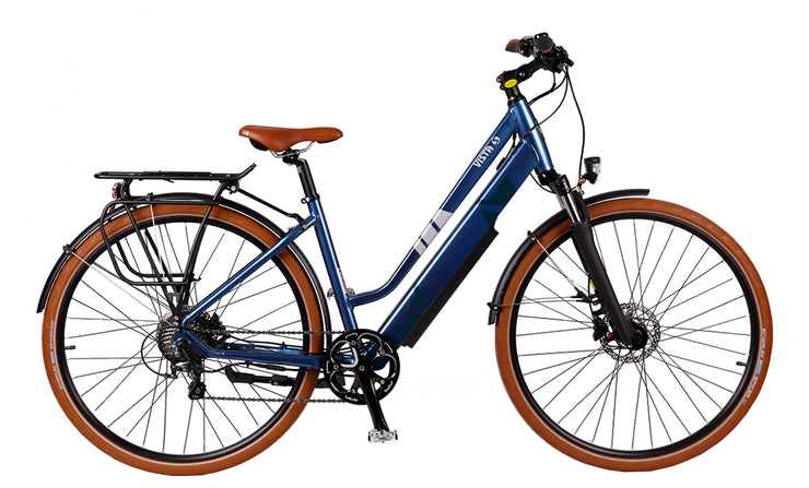 Batribike VISTA S Unisex Easy To Use Step Through Blue Electric Bike E-Bike