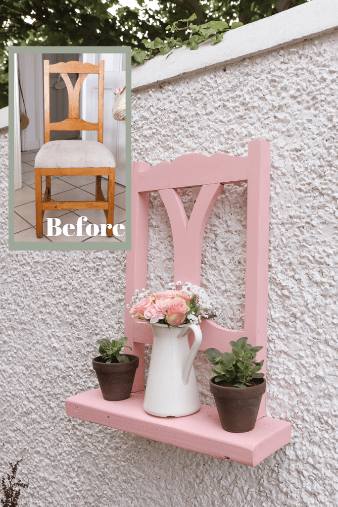 Garden Chair Planter DIY by Dainty Dress Diaries