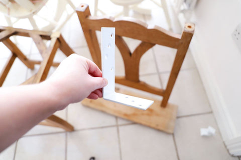 chair shelf - diy - upcycling - chalk paint - autentico -