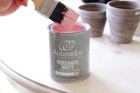 autentico verante matt blushed - paint brush - pink - chalk paint