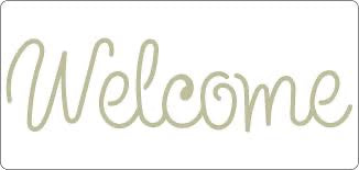 Autentico Welcome Stencil 295 x 140mm-Autentico Paint Online