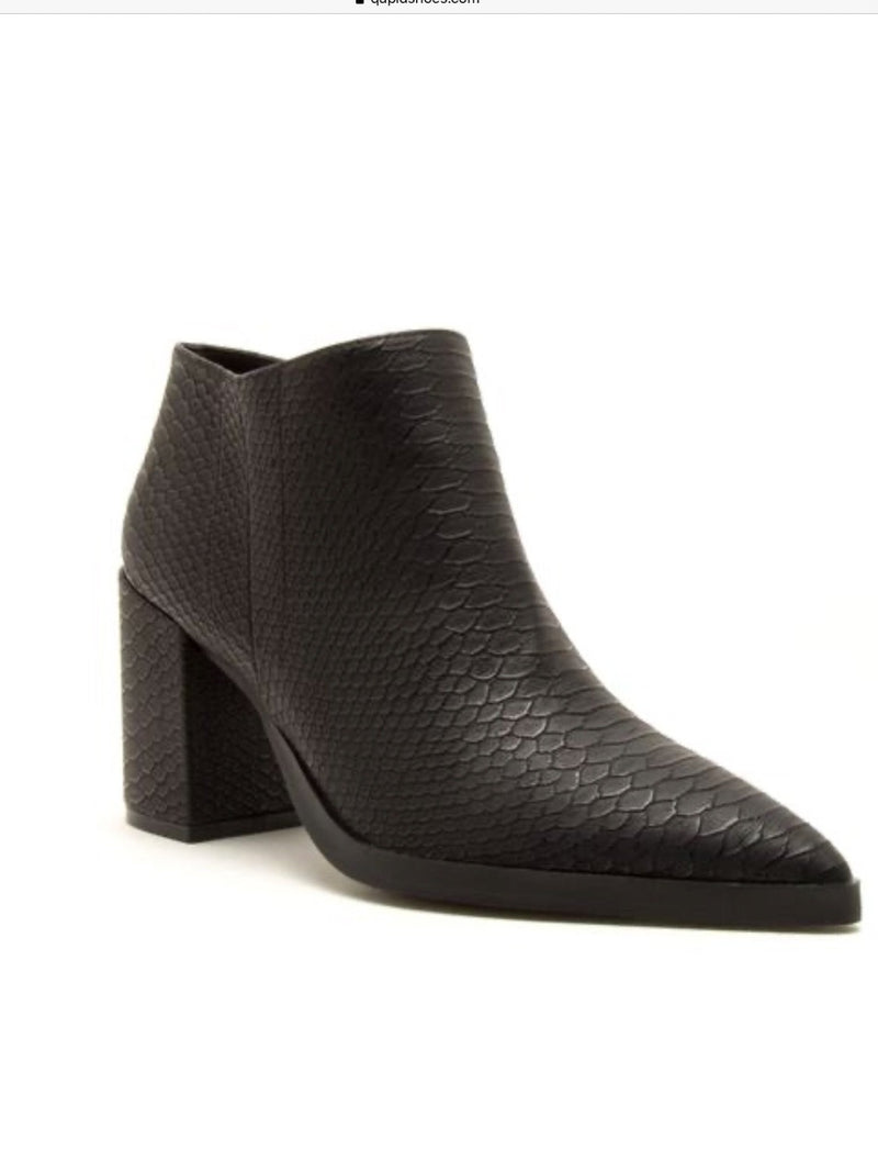 Planner Snakeskin Pointy Toe Bootie - Pineapple Lain Boutique