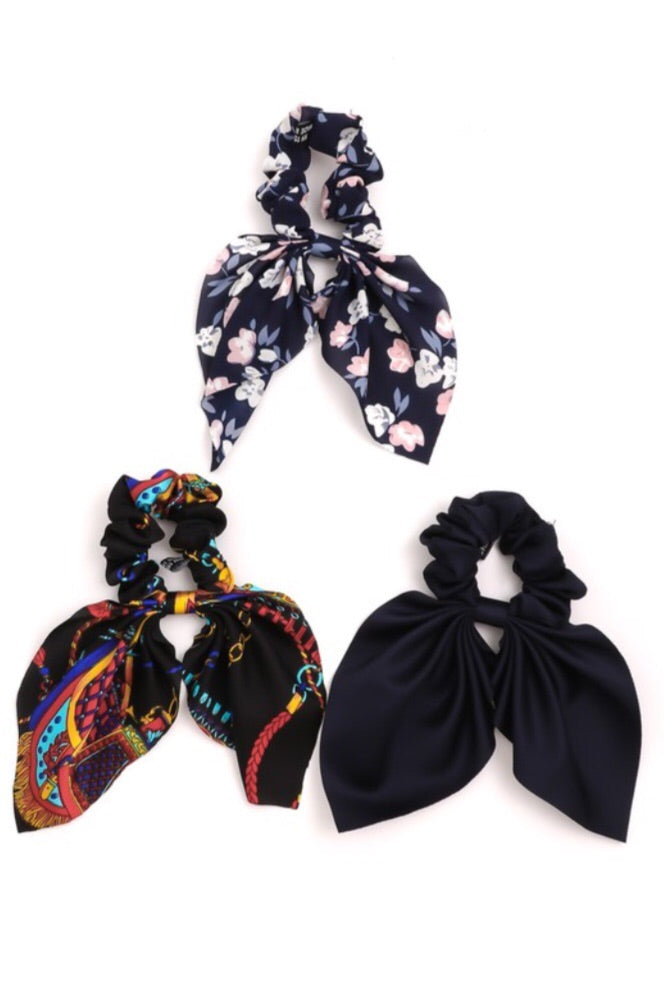 Floral Tail Scrunchie Set - Pineapple Lain Boutique