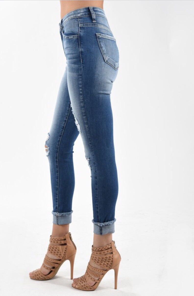 KanCan5030M Destructed Skinny Ankle Jean - Pineapple Lain Boutique