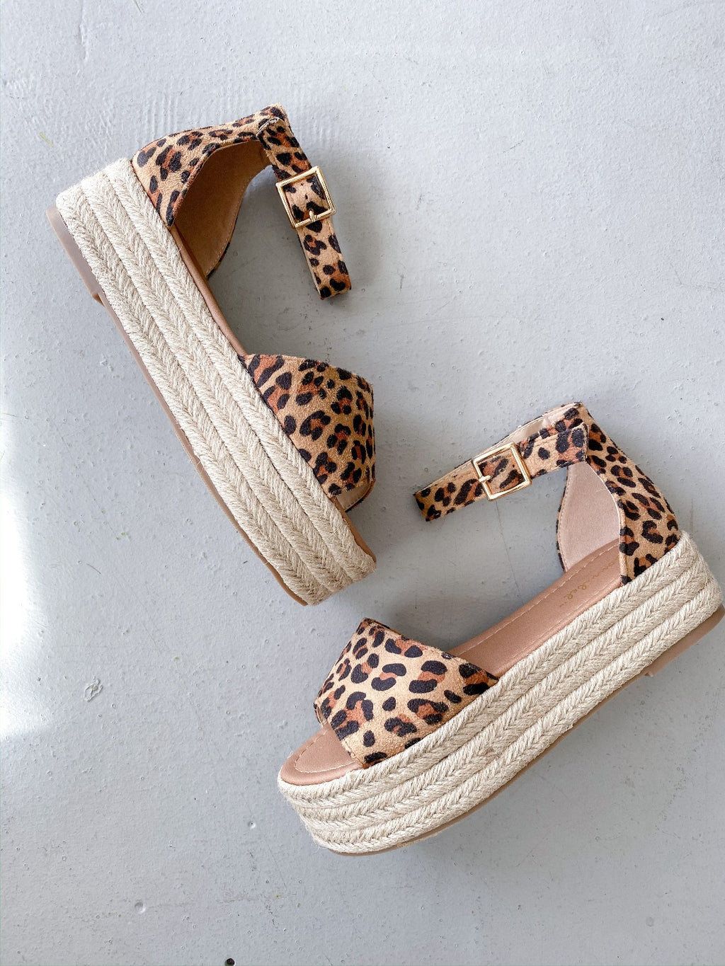 Fatima Espadrille Wedge Sandal - Leopard - Pineapple Lain Boutique