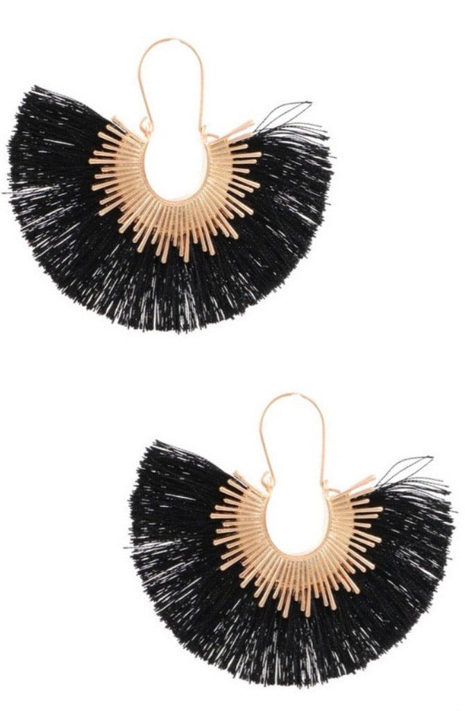 Sun Drop Tassel Earrings - Pineapple Lain Boutique