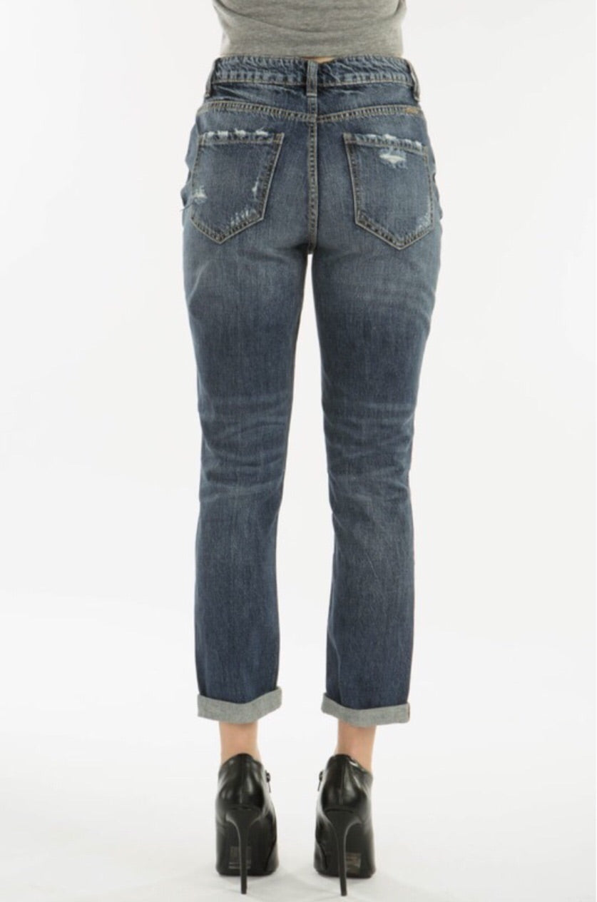 KanCan9147D  Destructed Mom Jean - Pineapple Lain Boutique