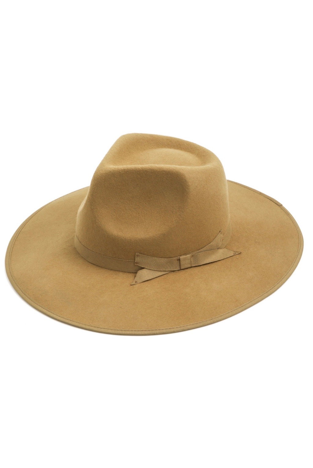 Dakota Wool Fedora Hat - Tan - Pineapple Lain Boutique