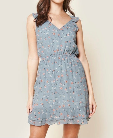 Joanna Floral Button Down Mini Dress