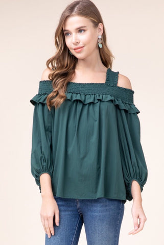 Blushing Bouquet Boho Peasant Top
