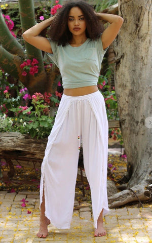 The Way Home Ankle Tie Pants - Taupe