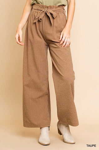 Animal Printed Palazzo Pants - Dusty Rose
