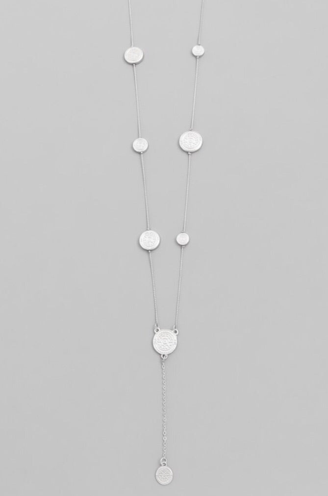 Dainty Coin Lariat Necklace - Pineapple Lain Boutique