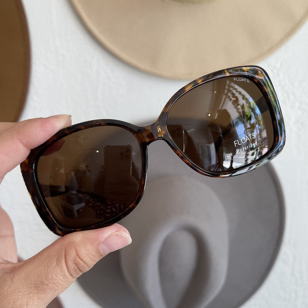 FLOATS Polarized Brown Tortoise Rectangle Sunglasses