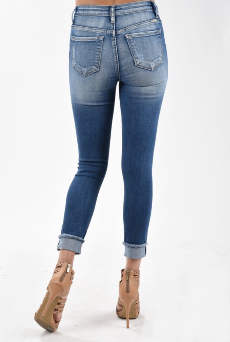 KanCan 5030M Destructed Skinny Ankle Jean - Pineapple Lain Boutique