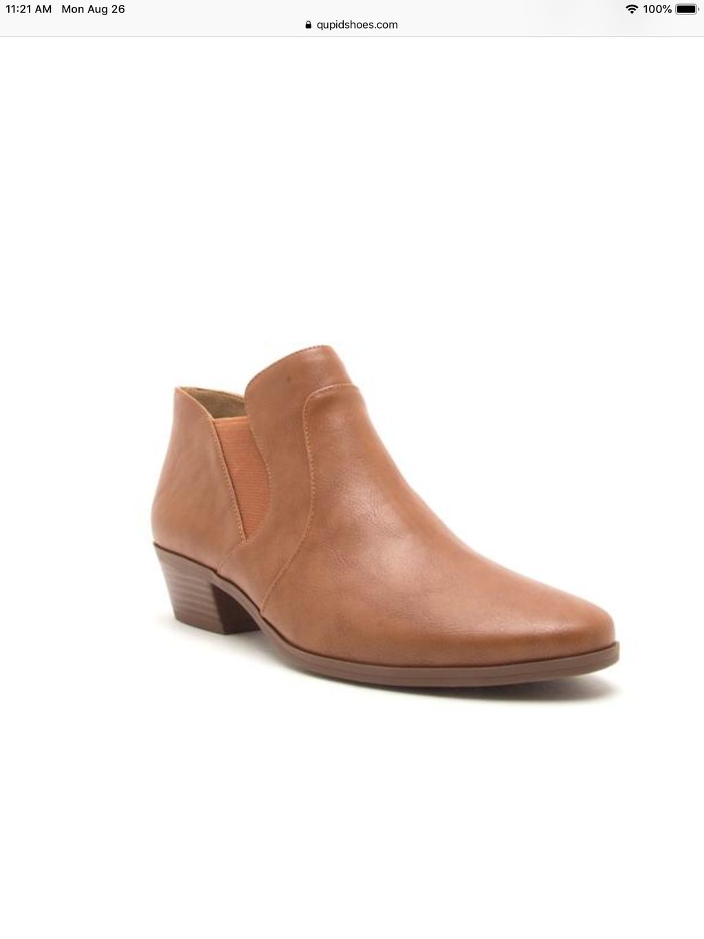 Salena Bootie - Brown - Pineapple Lain Boutique