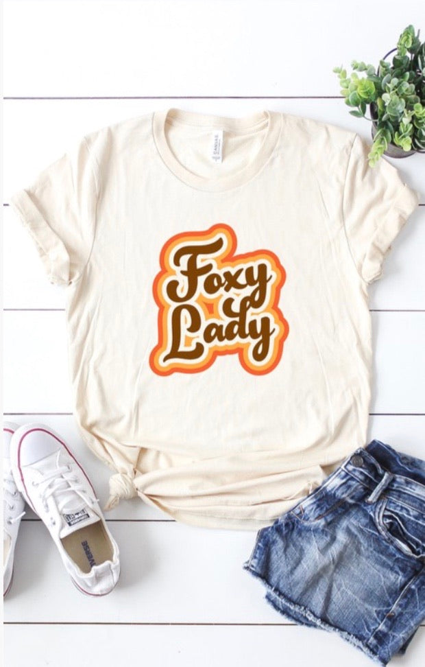 Foxy Lady Graphic Tee - Pineapple Lain Boutique