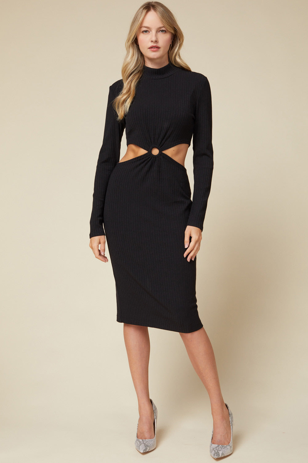 She's Electric Cut-Out Dress - Black