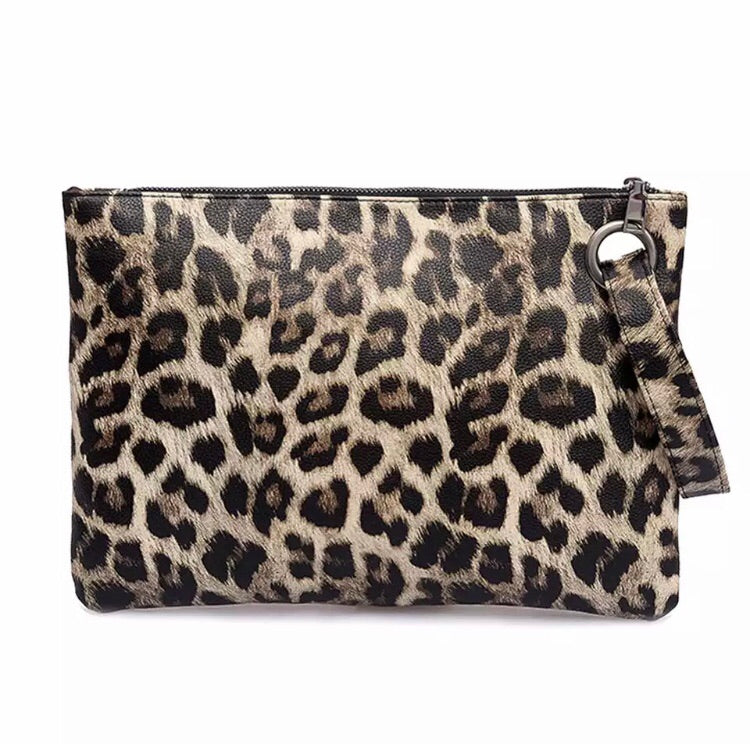 Animal Print Clutch - Pineapple Lain Boutique