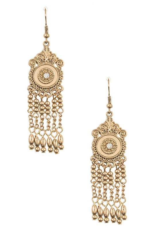 Boho Etched Drop Bead Earring - Pineapple Lain Boutique