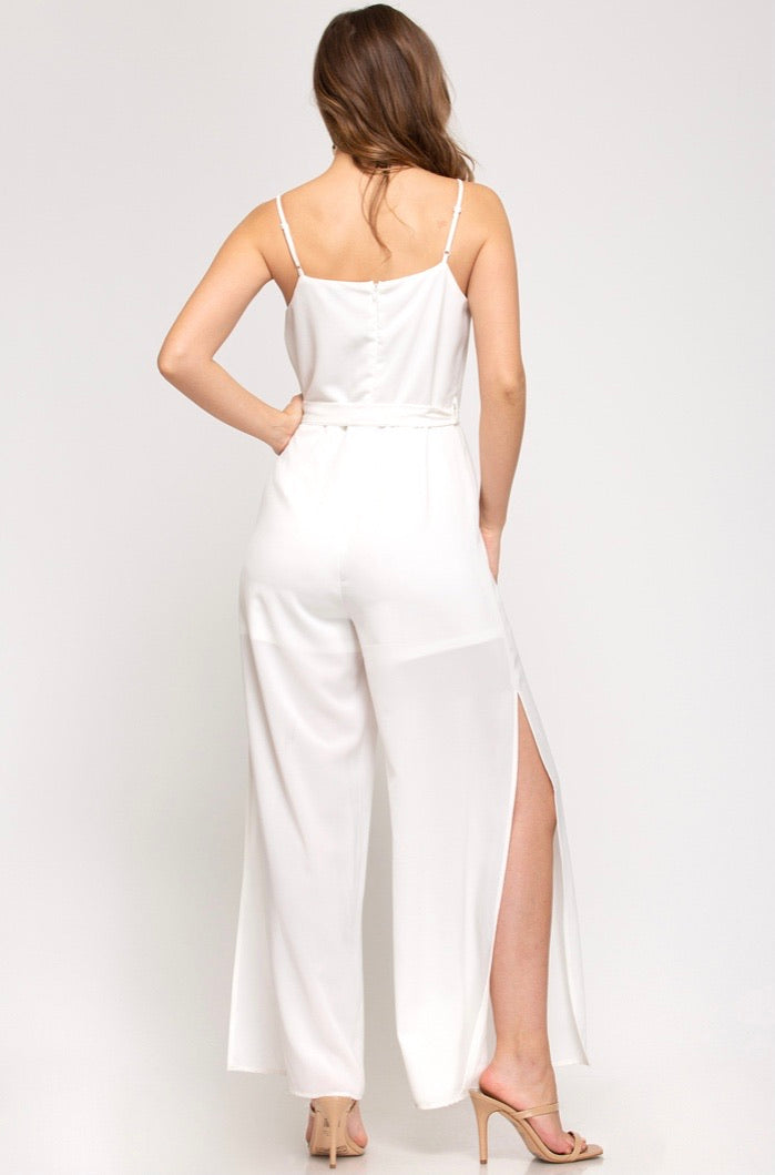 Run The World Cami Jumpsuit - Off White