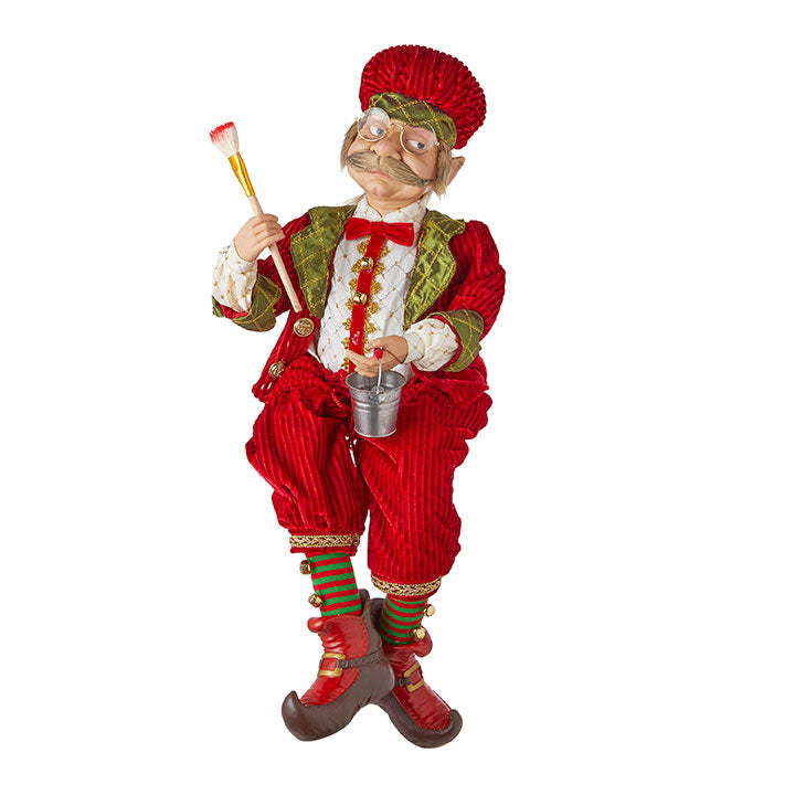 "RAZ Imports 29"" Posable Painting Elf"