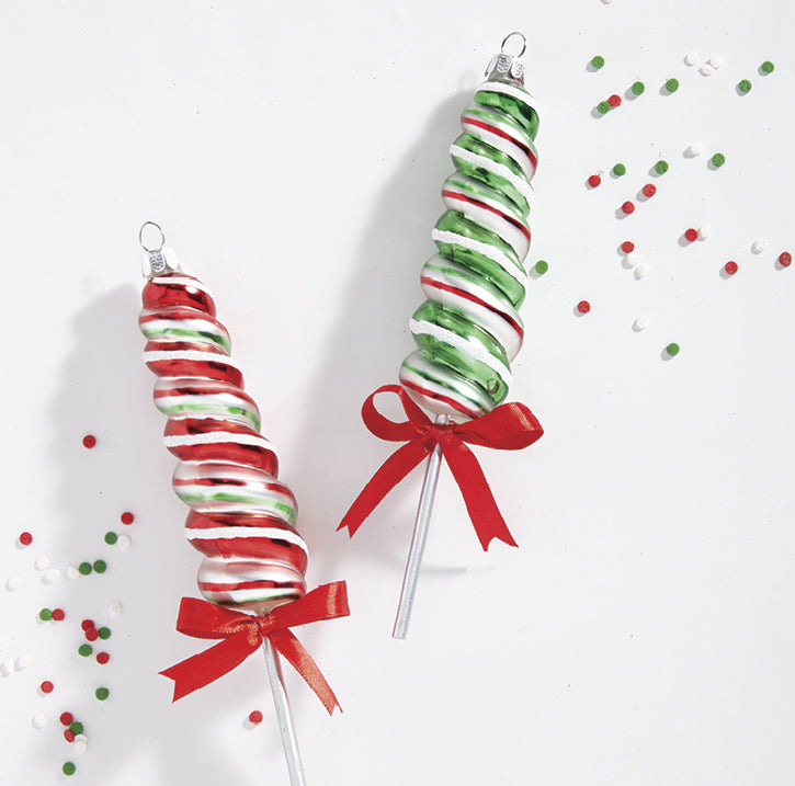 "7"" Lollipop Glass Ornament"