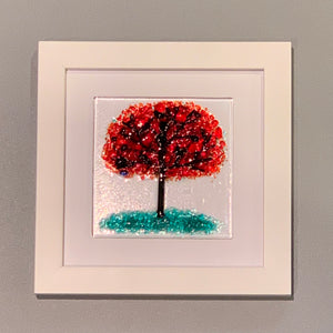 Whimsical Red Tree