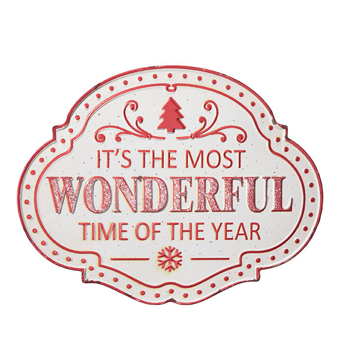 "RAZ Imports 24"" Most Wonderful Time Wall Sign"