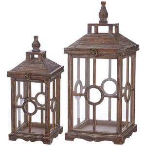 RAZ Imports Pinecone Lodge Lanterns