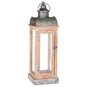 "RAZ Imports 24.5"" Wood and Galvanized Lantern"