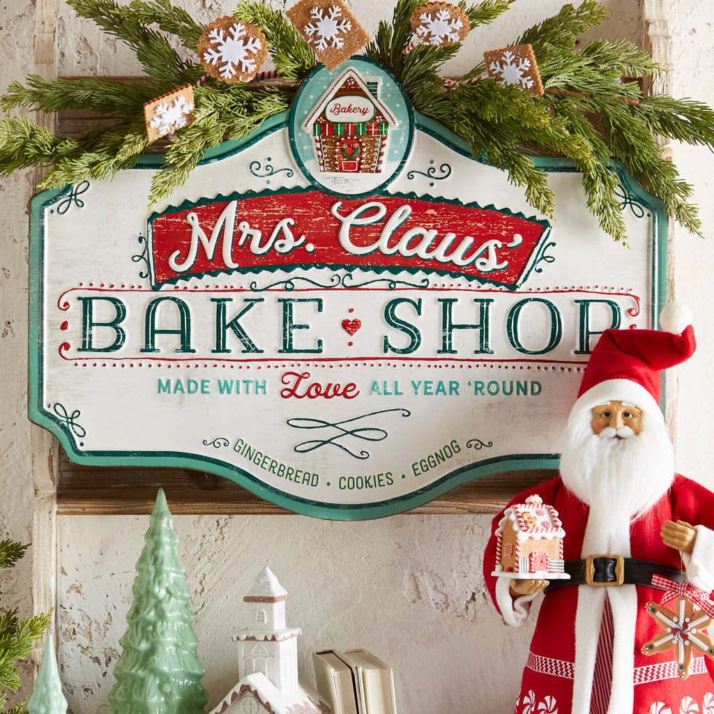 RAZ Imports Metal Bake Shop Christmas Sign