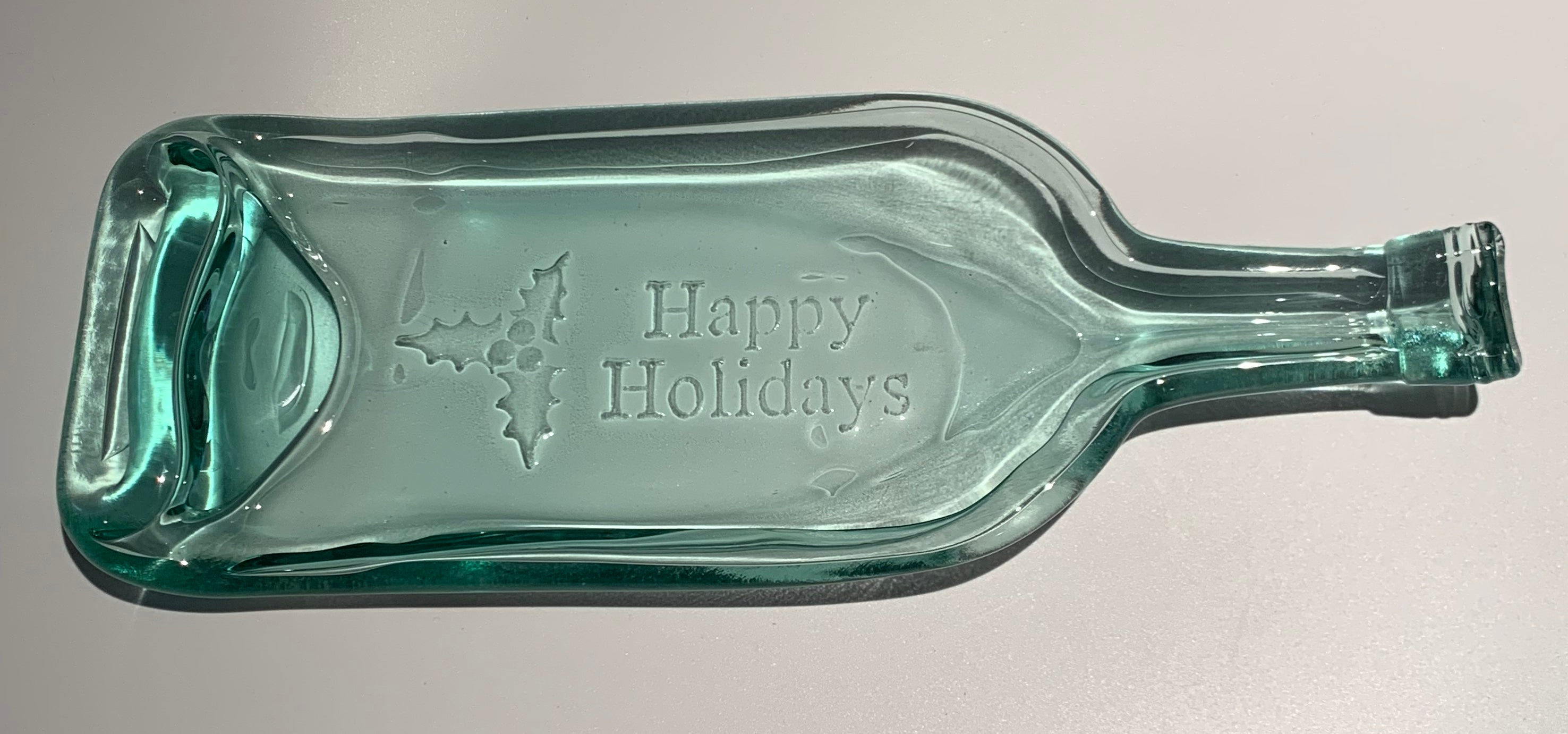 Happy Holidays Rimmed Plate