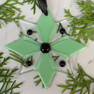 Handmade Glass Star Ornament