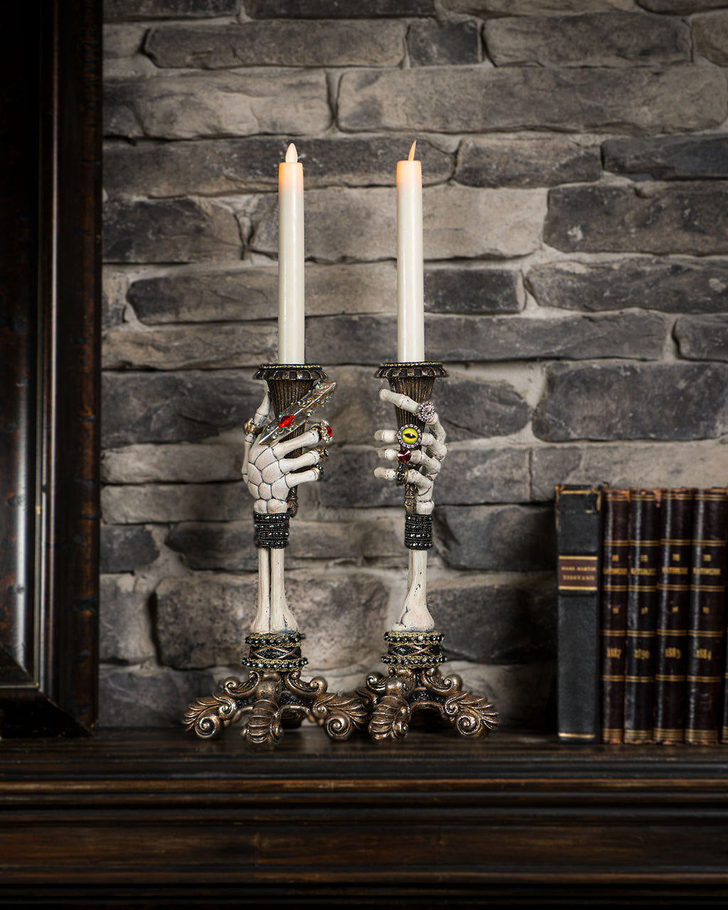 Katherine's Collection Skeleton Candle Sticks