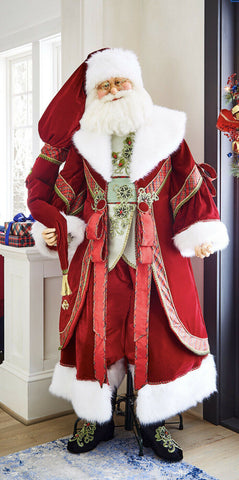 Katherine's Collection Life Size Wishes Santa Doll 68""