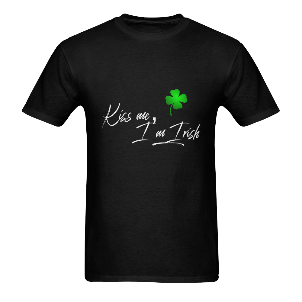 St. Paddys Day 'Kiss Me I'm Irish' Mens Black T-Shirt