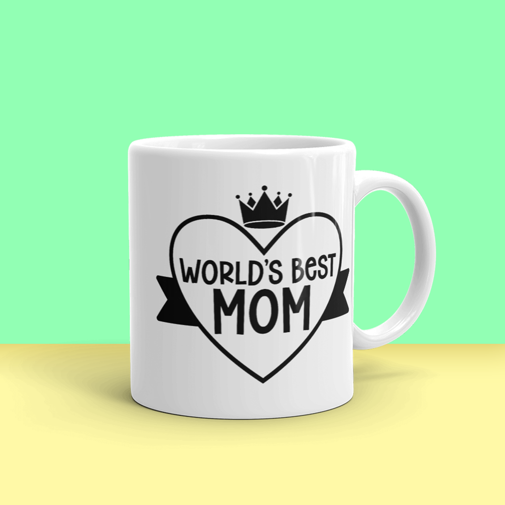 """Worlds Best Mom"" 11oz Ceramic Mug"