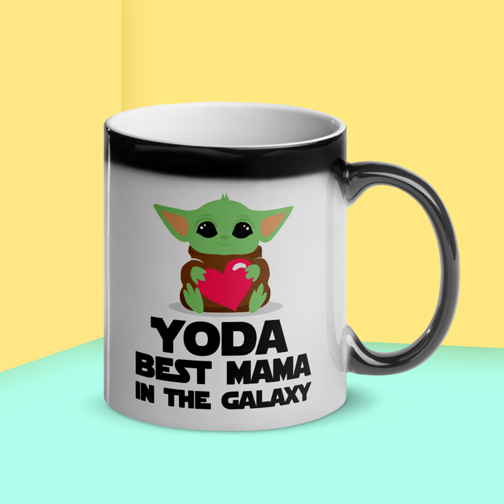"""Yoda Best Mama In The Galaxy"" Magic 11oz Mug (Gloss)"