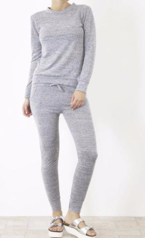 Two Piece Mottled Jumper and Joggers Set