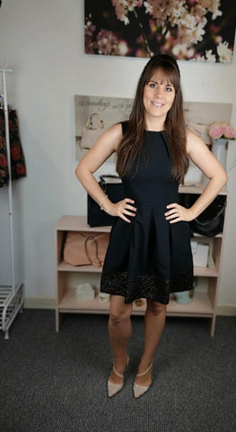 Closet London Black Hackney Dress