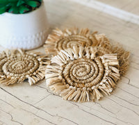 Frayed Jute Coasters