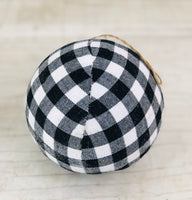 Large Black/White Buffalo Check Ornament