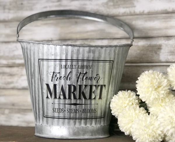 Fresh Flower Market Bucket