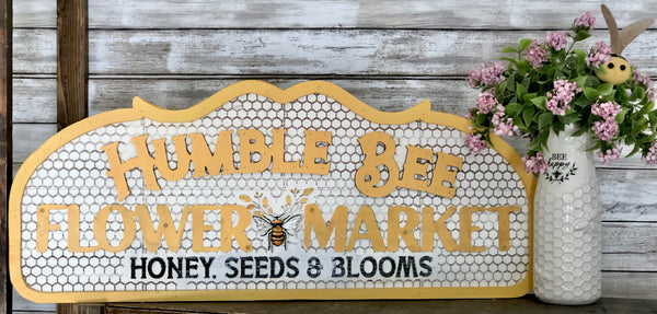 Humble Bee Market Sign