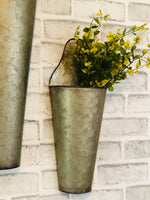 Galvanized Cone Buckets Set/2