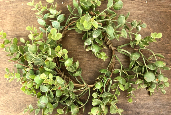 Green Leaf Succulent Wreath
