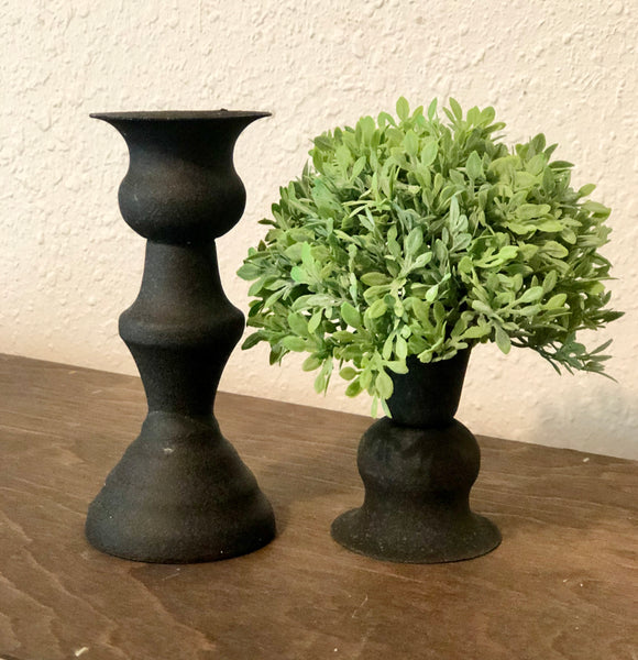 Small Black Alette Candle Holder